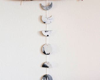White Moon Phase Wall Hanging