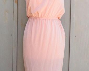 Pink SLIP Dress. Silk Dress. Sleeveless Slip Dress. Tube Top Slip Dress. Light PINK Sleeveless Slip. Pink Silk Slip Dress. Retro Slip Dress
