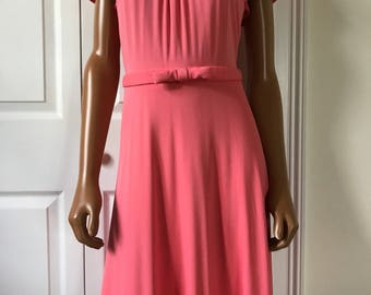 Moschino Cheap and Chic 1990s Spring Dress Coral Day Cocktail Dress Size S