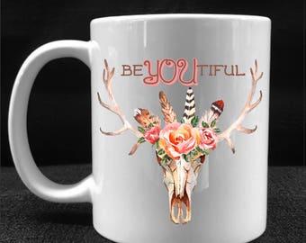 MUG, COFFEE CUP, beYOUtiful, Drinkware, Gift