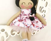 Soft baby doll, Rag doll- Pink Cloth Doll