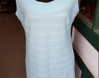 1960's Vintage Sheath Dress in Pale Blue