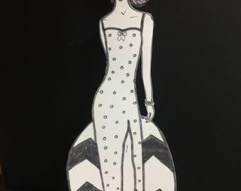 "Retro Paper Doll - ""Lucille"""