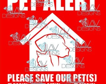Pet Alert Rescue My Pets in Case of Emergency SVG & PNG