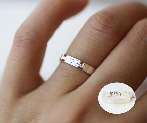 Valentines Ring Personalized With Custom