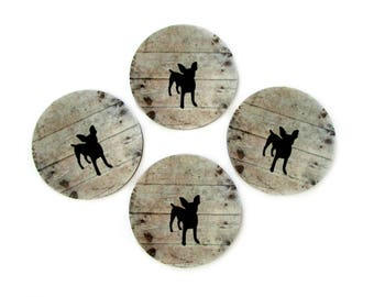 Chihuahua Coasters Set - Dog Drink Coasters - Dog Lover Gift - Gifts for Dog Lovers - Rustic Home Decor - Chihuahua Decor