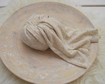 Newborn Photo Prop, Newborn Props, Fabric Wrap, Posing Fabric, Light beige, Swaddle Wrap, Newborn Wrap, Layering Fabric, Posing Wrap, 171