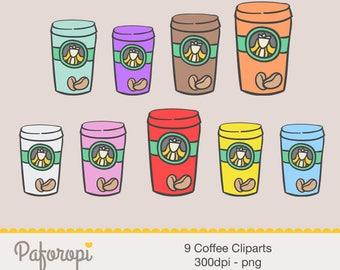 9 Coffee Cliparts