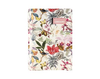 Notebook, 30 pages, Journaling, botanical pattern, novelty gift, gift coworker, gift woman.