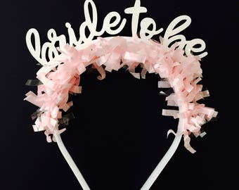 Bride to Be Headband | Party Hat | Party Crown | Bridal Shower | Bachelorette Party