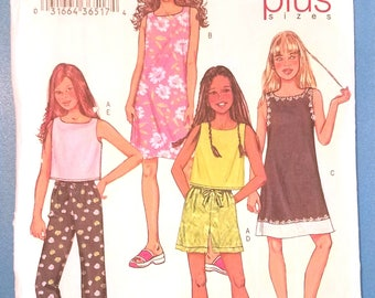 Butterick 3860 - Fast and Easy - Girls' Top, Dress, Shorts and Pants Pattern - Sizes 7, 8, 10, 12, and 14