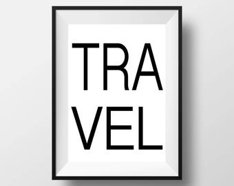 Travel Print, Modern Wall Decor, Travel Gift, Travel Art