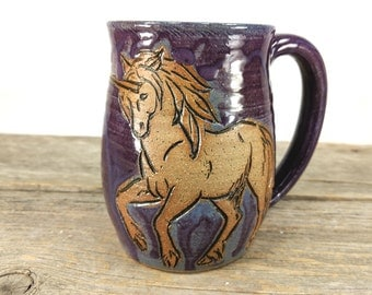 Unicorn Mug 16oz - Cute Teen Girl Gift - Unique Unicorn Mug - Unique Unicorn Gifts - Unicorn Lover Gift - Unicorn Mugs - Mesiree Ceramics