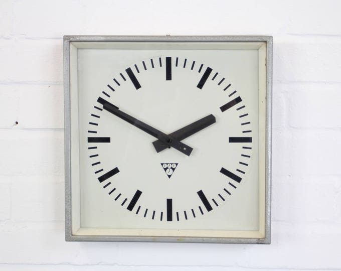 Mid Century Factory Clocks By Pragotron Circa 1960's