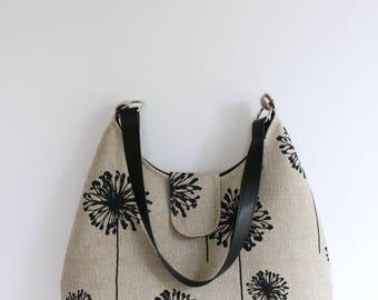 Dandelion Bag/Tote Bag/Gift for Women/Gift for Her/Hobo Bag/Shoulder Bag/Medium Bag