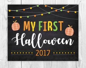 HALLOWEEN SALE, My first Halloween Sign, My 1st Halloween, Baby's First, Baby's 1st, Halloween Sign, Printable Sign, Instant Download