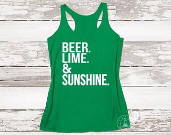 Beer Lime & Sunshine Tank. Workout Tank. Sunny Beach. Aloha Beaches. Summer Top. Sunshine Tank.