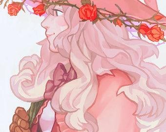 Original - Rose Witch Print