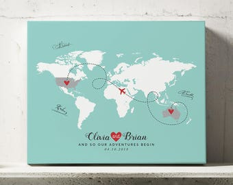 Map guest book etsy wedding guest map wedding guest book alternative map world map guest book map gumiabroncs Choice Image