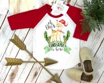 Christmas Onesie®, Oh Deer Christmas is Here, Christmas Shirt, 1st Christmas, My First Christmas, Christmas Outfit, Christmas Deer Shirt