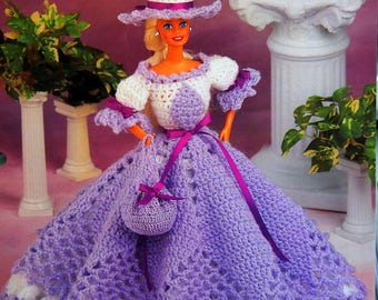Cotillion Hoop Gown By Juanita Turner And Annie's Fashion Doll Crochet Club Vintage Crochet Pattern Pattern Leaflet 1995