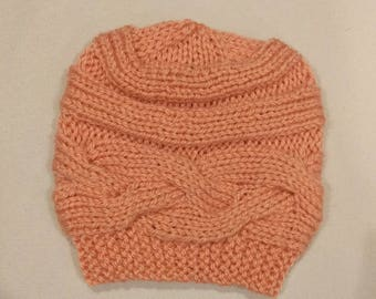 Cable Knit Baby Hat - Color Options Available