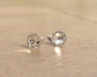 Swarovski® crystal stud earrings,Real silver stud earrings,Crystal studs,Tiny earrings,Sleek earrings,Handmade jewellery,Mother gift