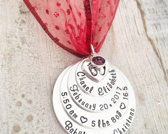 Baby's First Christmas Ornament – Baby Ornaments – First Christmas Ornament - Personalized Christmas Ornaments - Custom Christmas Ornaments