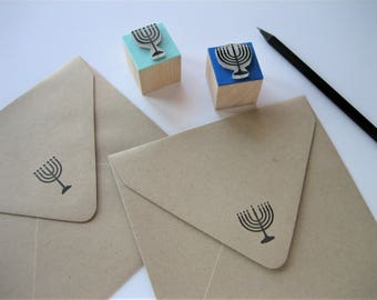 Menorah Stamp. Hanukkah Stamp. Hanukkah Menorah Stamp. Menorah Rubber Stamp. Chanukah Stamp. Candelabrum Stamp. Happy Hanukkah Stamp