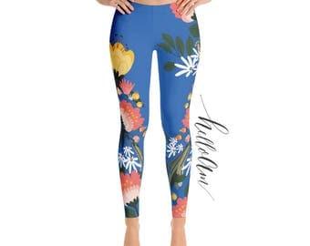 Leggings - Women's Leggings - floral leggings - printed leggings - Exercise leggings - Yoga Pants Exercise - Womens Fun Print Leggings