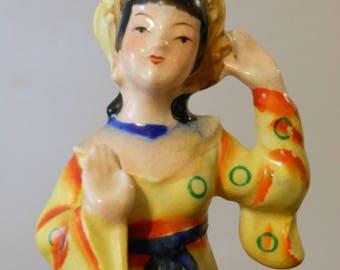 Oriental Bali Dancer Figurine. Occupied Japan.