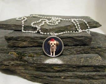 20mm Round Pendant Necklace, Custom Photo Pendant Necklace