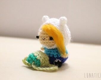 Amigurumi chibi Fiona adventure time plush - as keychain or mini plush you can choose!
