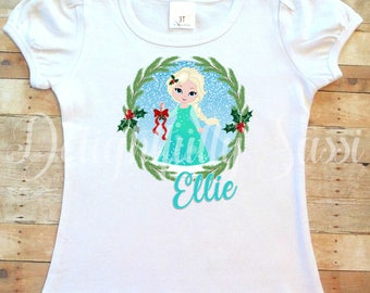 Elsa Shirt, Frozen, Personalized Shirt, Christmas Shirt, Personalized Christmas Shirt, Holiday Shirt, Christmas Elsa Shirt