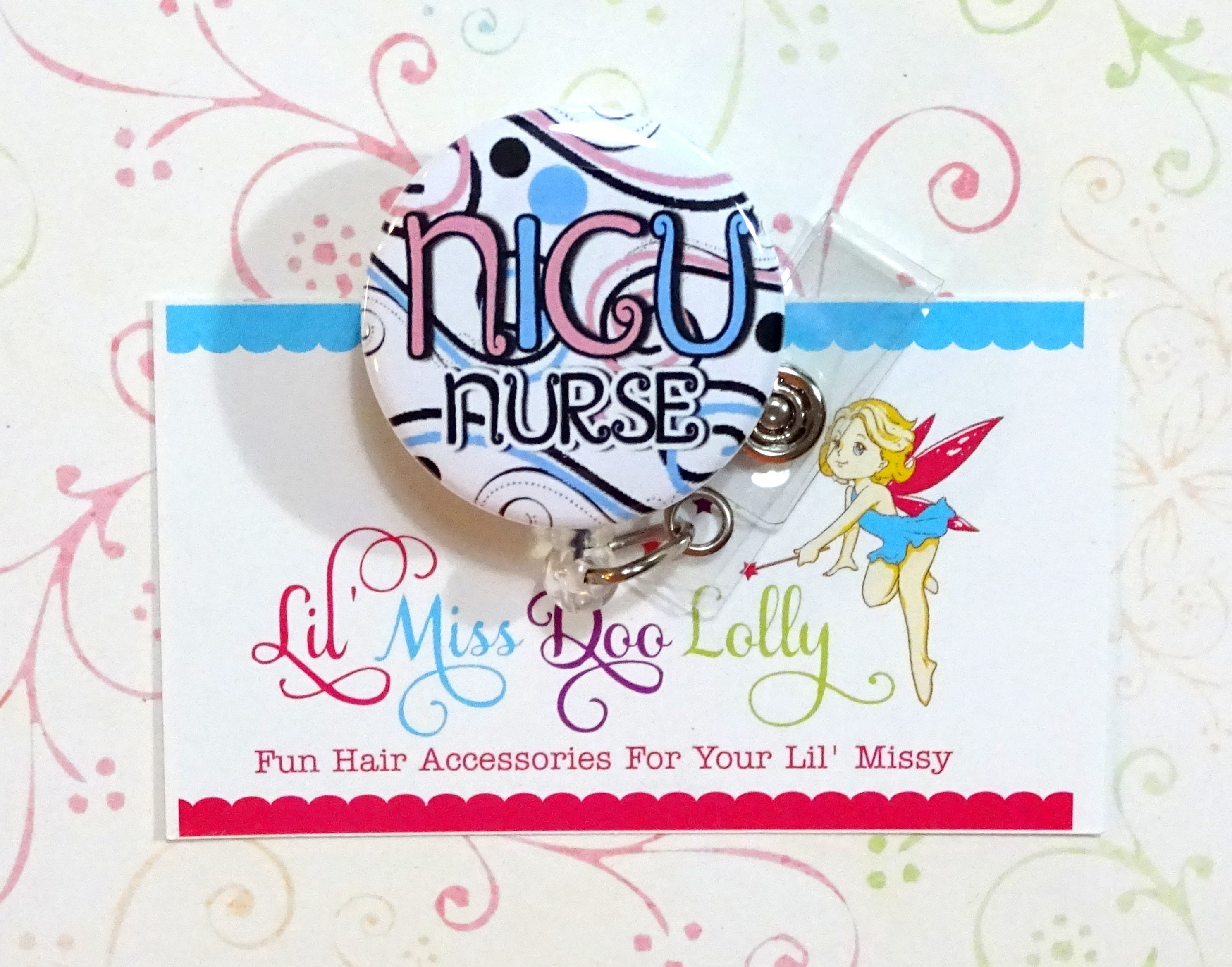 Nicu Nurse Badge Reel Nursing Badge Holder Nurse Badge Reel