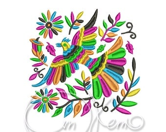MACHINE EMBROIDERY DESIGN - Otomi bird