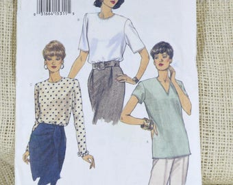 Uncut Vogue pattern 8572 // Very Easy Very Vogue Blouse // plus size