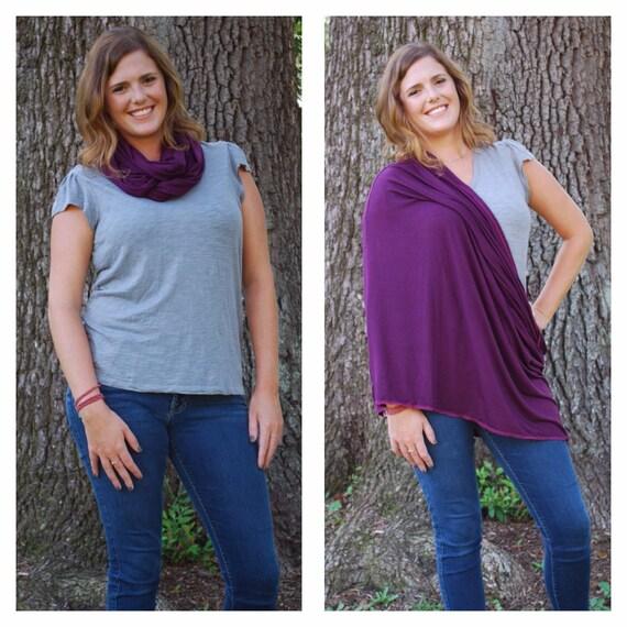 Purple Nursing Scarf - Infinity Scarf Nursing Cover - Nursing Cover - Nursing Shawl - Nursing Poncho - Breastfeeding Cover - Nursing Scarf