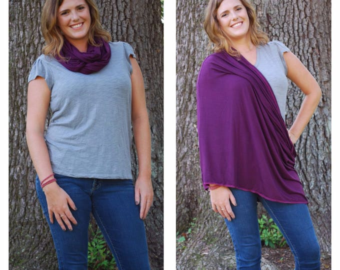 Purple Nursing Scarf