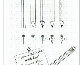 How to Draw Pencil and Thumbtack Drawing Tutorial