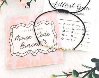 Sister Morse Code Bracelet - Bracelets for Women - Friendship Bracelet - Best Friend Gift - Gift for Women - Custom Jewelry - Personalized