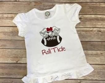 Alabama Football Shirt - UA Football Shirt - Girls Alabama football shirt - Boys Alabama football shirt - football shirt - kids football