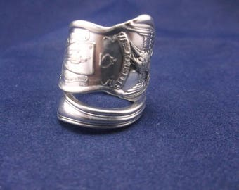 "Spoon Ring ""Massachusetts"" Handmade Spoon Jewelry Size 7.5, 8, 8.5  FREE SHIPPING"