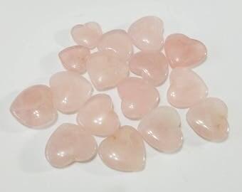 Rose Quartz, Heart, Huge Mix, Gemstone Lot, 1.5 oz, Pink, Stone, Mixed, Lot, Beads, Jewelry, Beading, Supply, Supplies