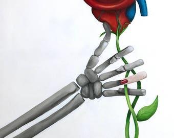 Surreal acrylic painting on canvas, Bad Romance II