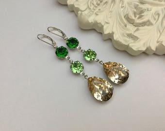 Reduced/Swarovski Drop Earrings