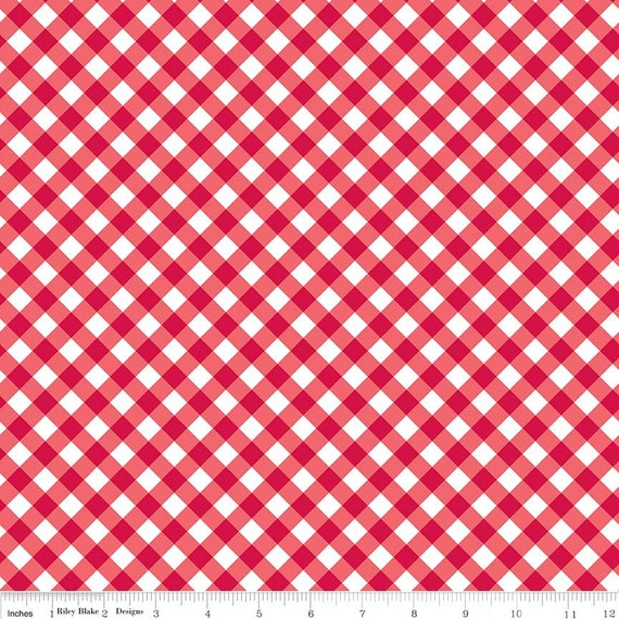 Red Patriotic Gingham by Riley Blake Designs