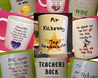 Teacher, Teaching assistant, Headmaster mugs - Funny - Can be personalised - personalized