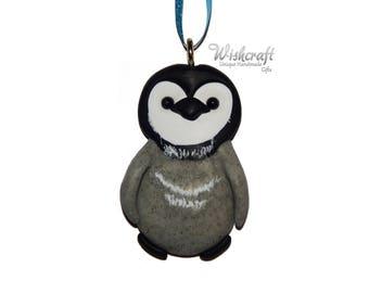 Penguin christmas tree Decoration, Penguin christmas ornament, polymer clay, clay penguin, penguin figure, penguin sculpture, christmas