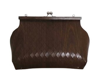 bag in wood of chestnut  - modern version